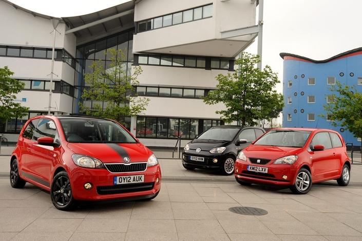 Skoda Citigo, Volkswagen Up et Seat Mii: une autre triplette, qui s'ajoute à celle de Toyota- PSA.