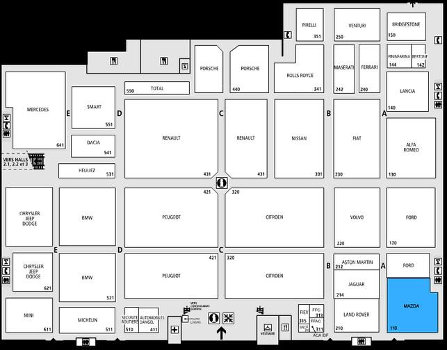 Guide des stands-Mazda: hall 1