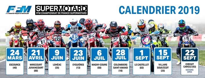 Championnat de France de Supermotard: le calendrier 2019