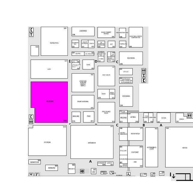 Guide des stands-Suzuki: hall 3