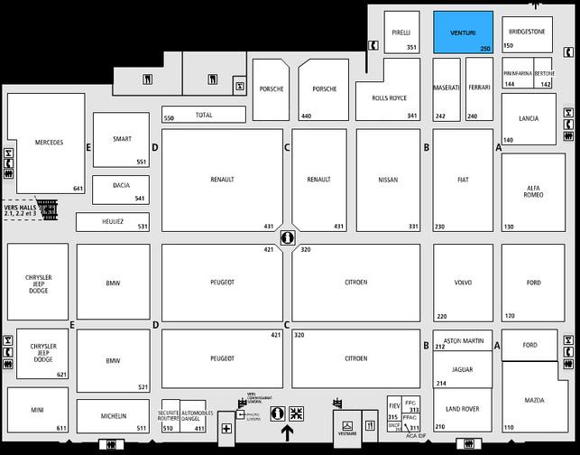 Guide des stands-Venturi: hall 1