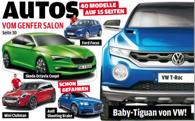Toutes les nouveautés du salon de Genève 2014 - Volkswagen T-Roc: caramba! VW nous refait le coup de l'Iroc...