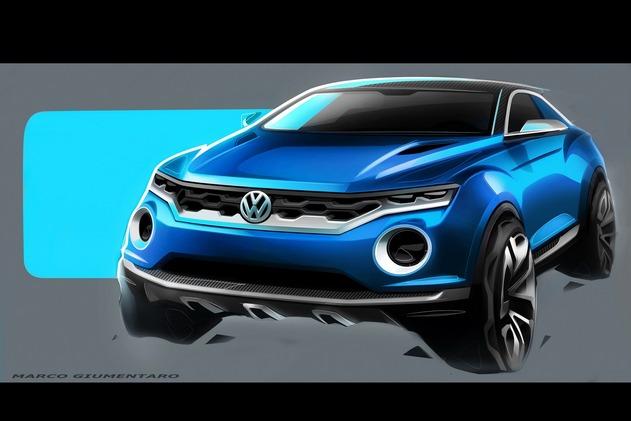 Toutes les nouveautés de Genève 2014 : le Volkswagen T-Roc en dessin