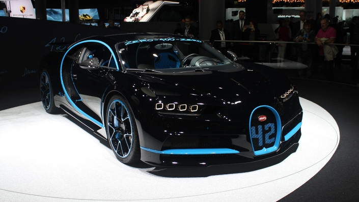 Bugatti Chiron : 42 secondes - En direct du salon de Francfort 2017