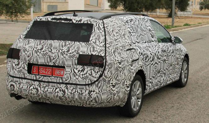 Future Volkswagen Golf break: 1ères prises