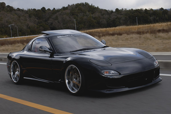 mazda rx7 black style. Black Bedroom Furniture Sets. Home Design Ideas