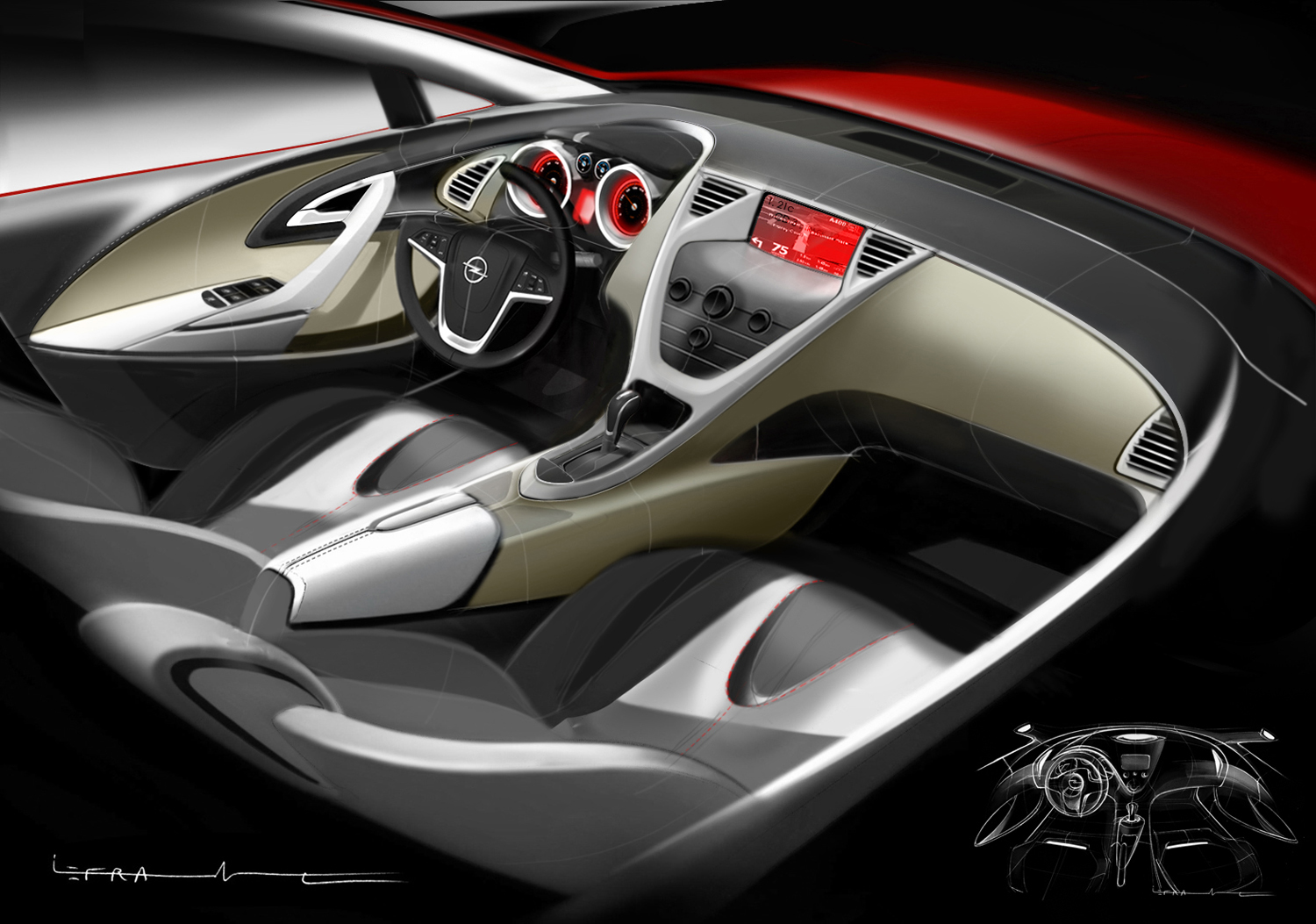 Future opel astra nouvelles photos l 39 int rieur d voil for Future interieur