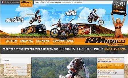 KTM: nouveau site internet du Team HDI.
