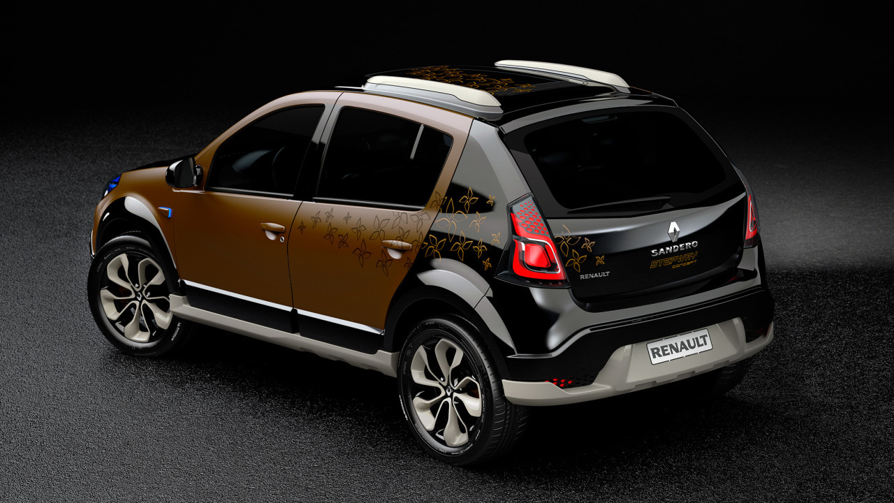 2010 renault sandero stepway concept dark cars wallpapers. Black Bedroom Furniture Sets. Home Design Ideas