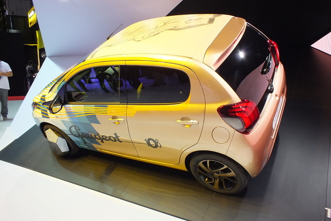 Vidéo en direct de Genève 2014 - Peugeot 108 Tatoo Concept : démonstratif