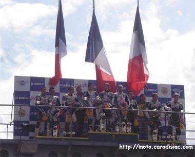 24 h du Mans 2008 en direct - Le podium de la Formula EWC