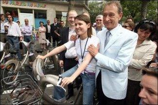 Elections municipales 2008 de Paris : Bertrand Delanoë propose Auto Vélib', service de location de voitures propres !