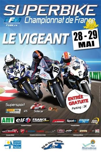 Championnat de France Superbike : 3ème épreuve au Vigeant