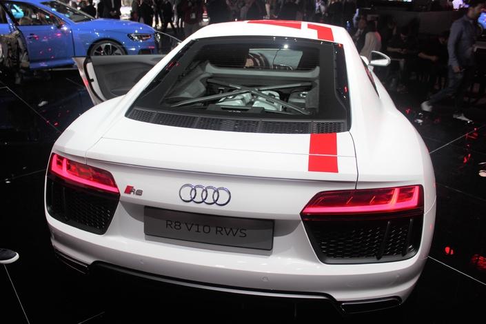 Audi R8 V10 RWS : arrière toute ! - En direct du salon de Francfort 2017
