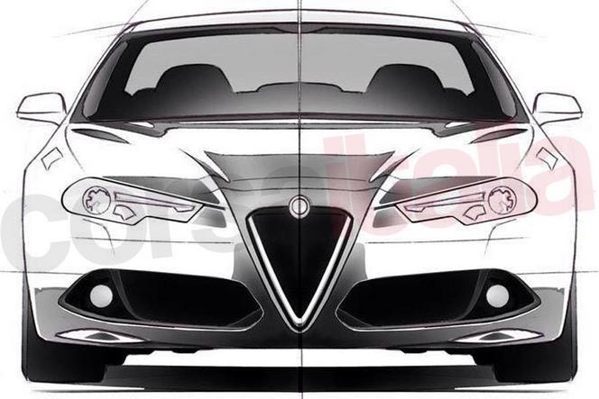 Un passionné dessine la future berline Alfa Romeo Giulia