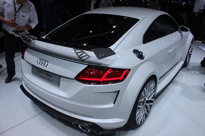 En direct de Genève 2014 - Audi TT Quattro Sport Concept, 210 chevaux par litre