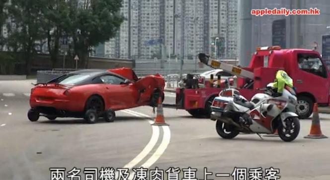 Crash : il évite un animal et pulvérise sa Ferrari 599 GTB dans un camion