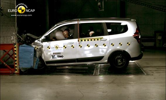 Euro NCap : 14 autos à 5 étoiles mais  seulement 3 pour le Dacia Lodgy