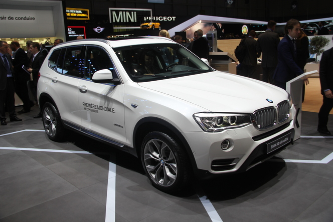 en direct de gen ve 2014 bmw x3 restyl du nouveau. Black Bedroom Furniture Sets. Home Design Ideas