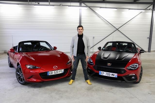 Comparatif - Les essais de Soheil Ayari - Abarth 124 Spider vs Mazda MX-5 : le choc des légendes