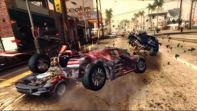 Burnout 5 pour XBox 360 et PS3 mais pas sur Wii