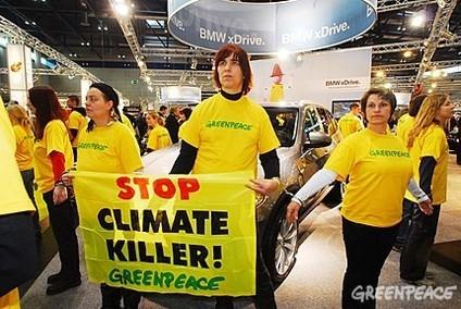 Salons de Bruxelles et de Vienne : Greenpeace est sur le front de l'environnement