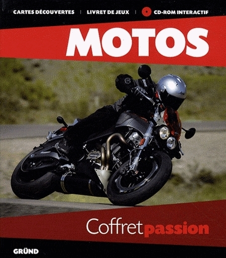 Idée cadeau - Livre : Motos - Coffret passion (+ 1 CD-ROM)