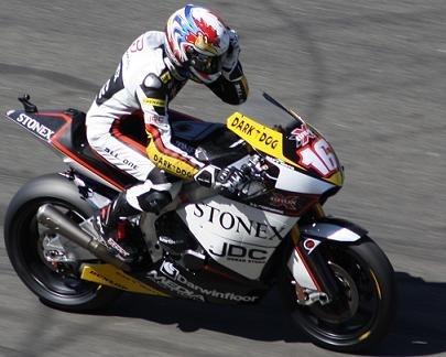 Moto GP France : La course des Moto 2 en images, Cluzel un tour en tête