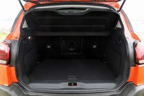 Le volume de coffre du C3 Aircross oscille entre 410 et 1289 litres.