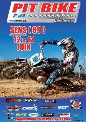 Preview championnat de france Pit Bike, Sens, 12 et 13 Juin.