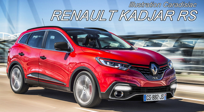 Le Renault Kadjar R.S pointe à l'horizon (illustration Caradisiac)