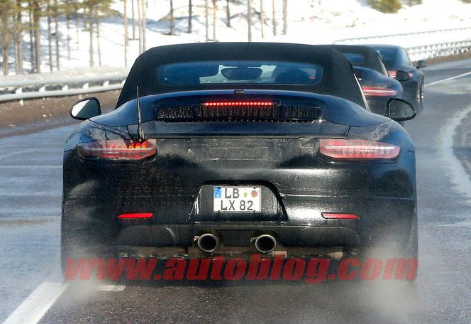 Surprise : une Porsche 911 mystérieuse en test Grand froid
