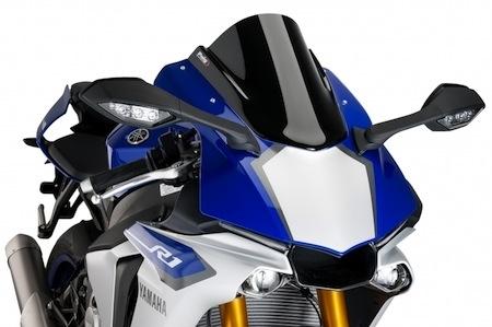 Puig: une bulle double courbure pour la dernière version de Yamaha YZF-R1 (2015)