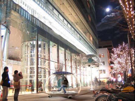 Designer Ross Lovegrove : un concept de voiture-bulle-solaire-lampadaire !