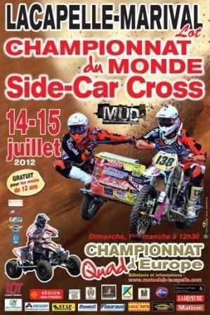 Side-car cross mondial à Lacapelle-Marival, c'est ce week-end