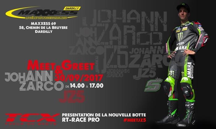 Rendez-vous: TCX présentera sa nouvelle botte racing avec Johann Zarco chez Maxxess Lyon, Dardilly