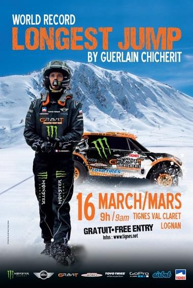 Guerlain Chicherit veut battre le record du monde du saut le plus long en auto