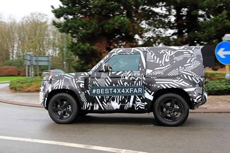 Le futur Land Rover Defender de sortie en châssis court