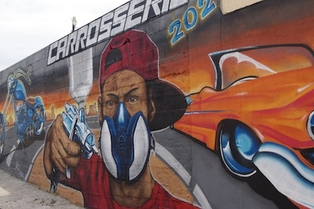 Reportage peinture moto: Carrosserie 202... c'est possible?