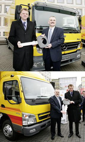 Deutsche Post World Net/Daimler : tests de camions dotés de la technologie hybride (diesel-électrique)