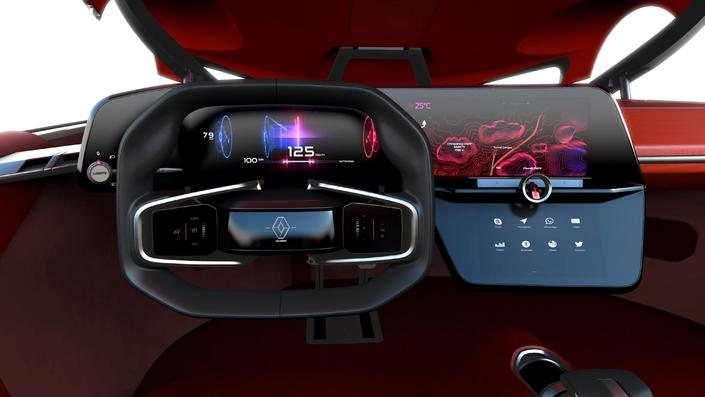La présentation intérieure des futures Renault devrait s'inspirer du celle du concept Trezor.
