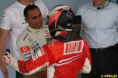 """Formule 1 - Hamilton: """"Il n'y aura pas de ballade de santé pour Kimi"""""""