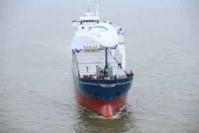 Allemagne-Venezuela : test du premier navire de transport commercial avec un grand cerf-volant. Economie de carburant toute !