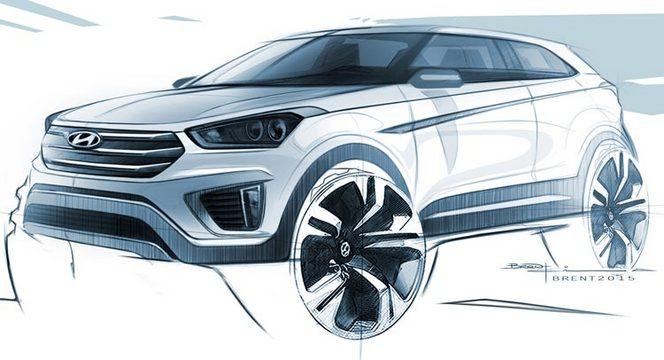 Premier dessin du futur Hyundai Creta : en fait, un ix25