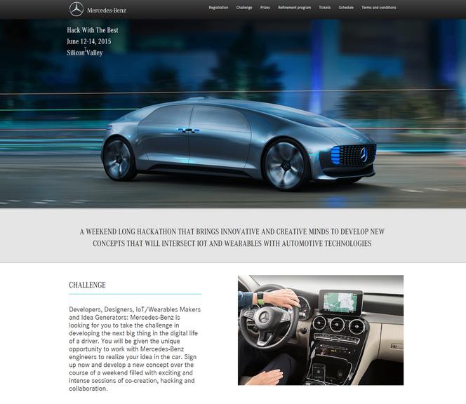 Mercedes organise un Hackathon