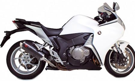Scorpion propose un pot à la Honda VFR 1200.