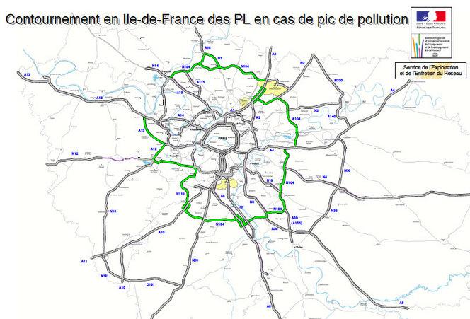 Pic de pollution : camions interdits de transit, contrôles anti-pollution