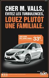 Sixt conseille à Manuel Valls de louer une familiale pour aller au stade !