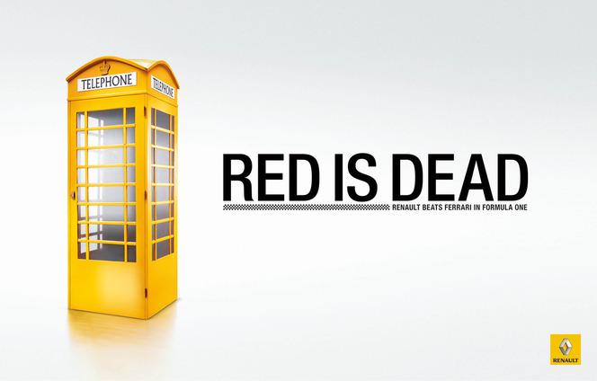 """""""Red is dead"""", Renault se félicite de battre Ferrari en F1"""