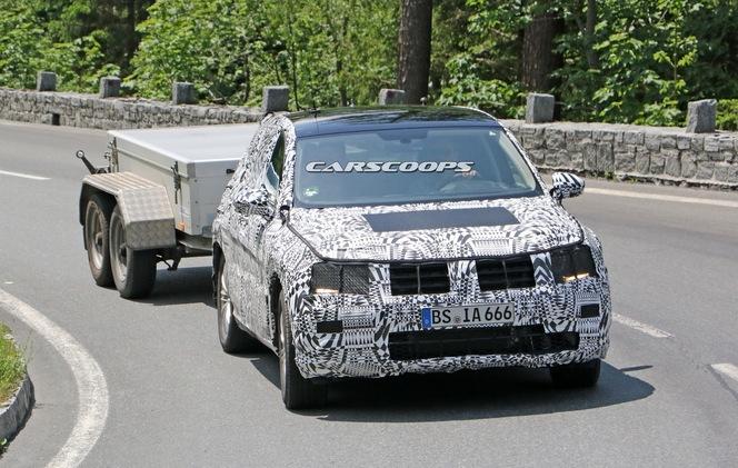 Surprise : le futur VW Tiguan part en camping